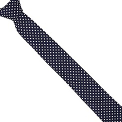 Red Herring - Navy slim spotted tie