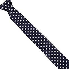 Red Herring - Navy slim spotted tie