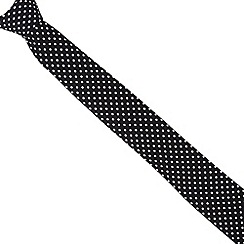 Red Herring - Black slim spotted tie