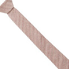 Red Herring - Red washed stripe skinny tie