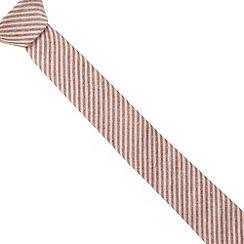 Red Herring - Red washed stripe skinny tie
