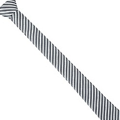 Red Herring - Light blue washed stripe skinny tie