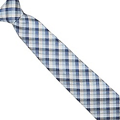 Jeff Banks - Designer blue silk checked tie