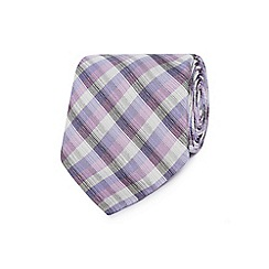 Jeff Banks - Designer purple silk checked tie