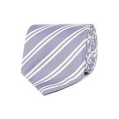 Jeff Banks - Designer blue twin striped slim silk tie