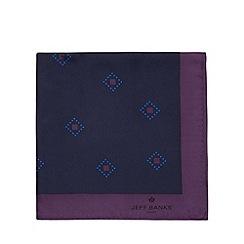 Jeff Banks - Designer purple geo diamond silk pocket square