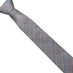 J by Jasper Conran - Designer red dogtooth check print luxury silk tie