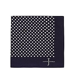 J by Jasper Conran - Designer navy spotted silk pocket square