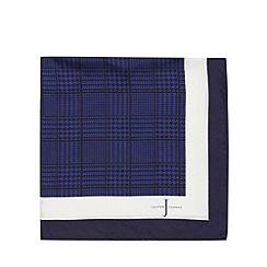 J by Jasper Conran - Designer navy dogtooth silk pocket square