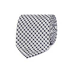 J by Jasper Conran - Designer navy spotted silk tie