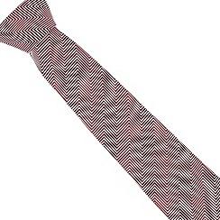 J by Jasper Conran - Designer red zig zag silk tie