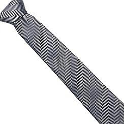 J by Jasper Conran - Designer navy zig zag silk tie