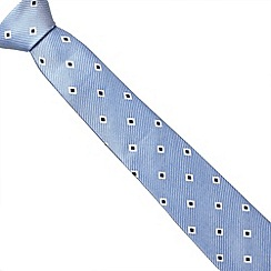 J by Jasper Conran - Designer light blue diamond and striped silk tie