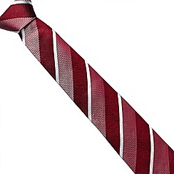 J by Jasper Conran - Designer red tonal striped silk tie