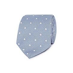 J by Jasper Conran - Designer light blue fine striped and spotted silk tie