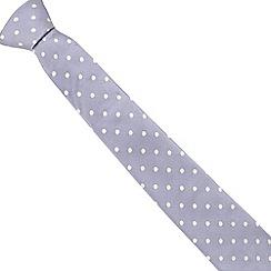 J by Jasper Conran - Designer lilac textured spot silk tie