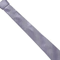 J by Jasper Conran - Designer lilac textured stripe silk tie