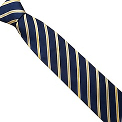Osborne - Yellow ribbon stripe luxury silk tie