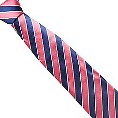Osborne - Pink wide stripe ribbed silk tie
