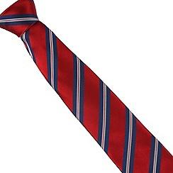Osborne - Red ribbon striped silk tie