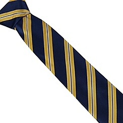 Osborne - Navy silk striped tie