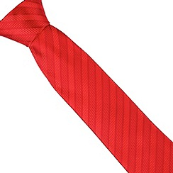 Osborne - Red herringbone striped silk tie