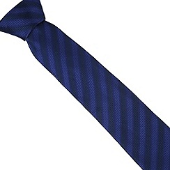 Osborne - Navy herringbone striped silk tie