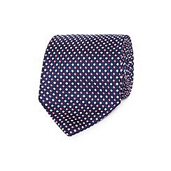Osborne - Pink geometric diamond silk tie