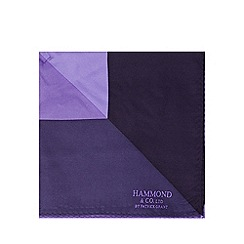 Hammond & Co. by Patrick Grant - Designer purple triangle print silk pocket square