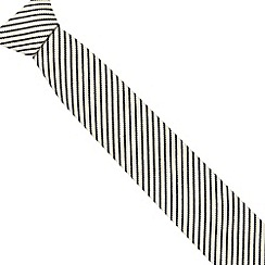 Hammond & Co. by Patrick Grant - Designer white striped tie