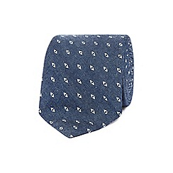 Hammond & Co. by Patrick Grant - Navy cotton print tie