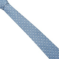 Hammond & Co. by Patrick Grant - Designer blue chambray spotted tie