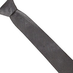 Hammond & Co. by Patrick Grant - Grey dogtooth woven tie