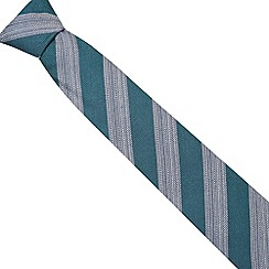 Hammond & Co. by Patrick Grant - Designer green wool blend striped regular tie