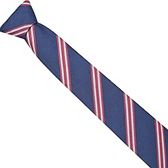 Hammond & Co. by Patrick Grant - Designer pink two tone striped tie