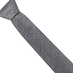 Hammond & Co. by Patrick Grant - Designer grey wool blend textured regular tie