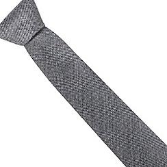 Hammond & Co. by Patrick Grant - Grey wool blend textured regular tie