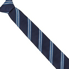 Hammond & Co. by Patrick Grant - Designer blue two tone striped tie