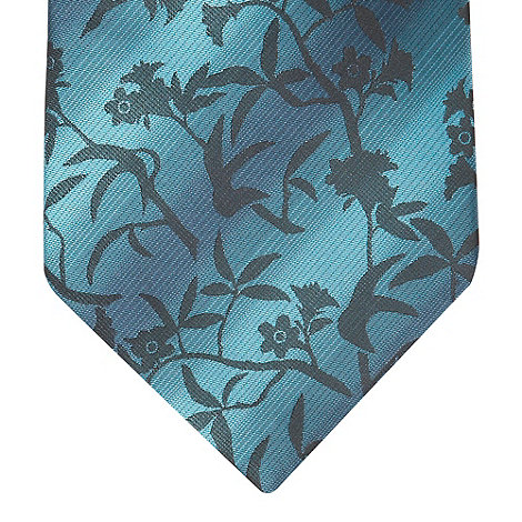 Thomas Nash - Aqua striped floral tie