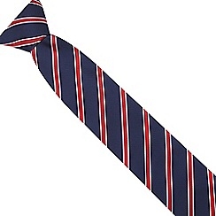 The Collection - Red striped textured tie