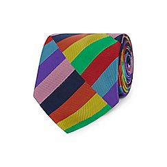 The Collection - Red block colour tie