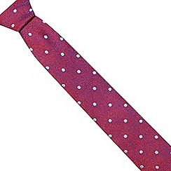The Collection - Pink tonic polka dot slim tie