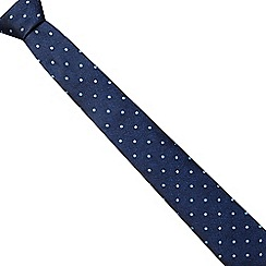 The Collection - Blue tonic polka dot slim tie