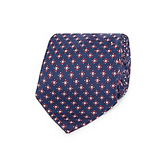 The Collection - Navy mini diamonds tie