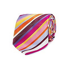 Thomas Nash - Pink striped regular tie