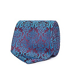 The Collection - Blue damask tie
