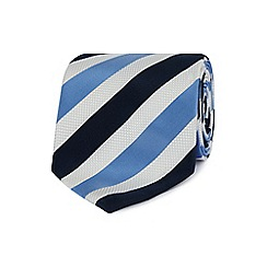 The Collection - White multi-striped tie