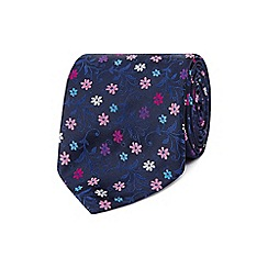 Thomas Nash - Navy floral tie