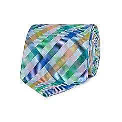The Collection - Blue multi-checked tie