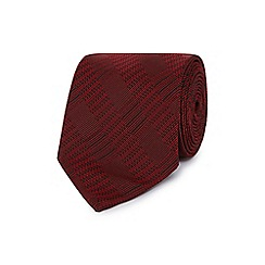 The Collection - Dark red tonal checked slim tie